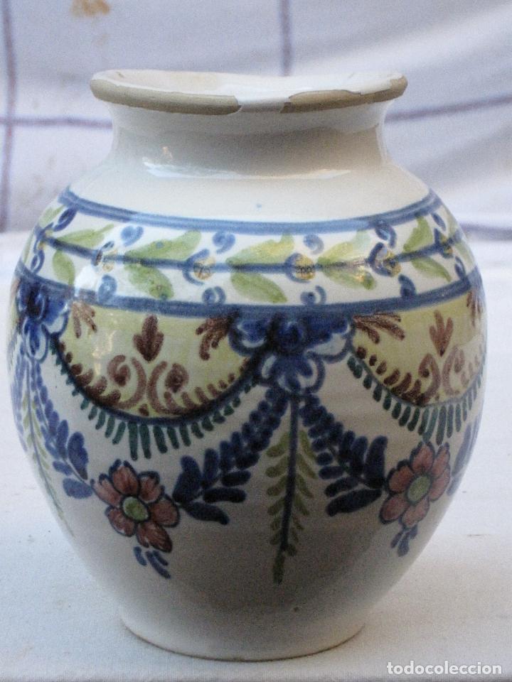 ORZA ANTIGUA EN CERAMICA VIDRIADA Y PINTADA DE ; LA BISBAL ( GERONA ) (Antigüedades - Porcelanas y Cerámicas - La Bisbal)