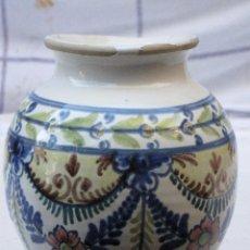 Antigüedades: ORZA ANTIGUA EN CERAMICA VIDRIADA Y PINTADA DE ; LA BISBAL ( GERONA ). Lote 72651371