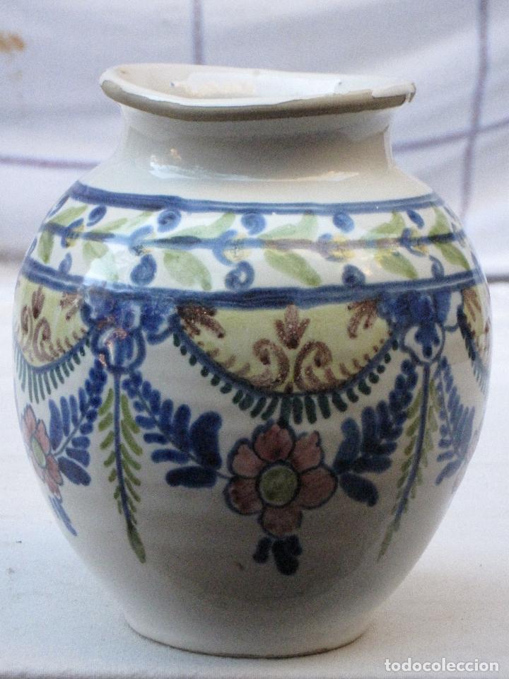 Antigüedades: ORZA ANTIGUA EN CERAMICA VIDRIADA Y PINTADA DE ; LA BISBAL ( GERONA ) - Foto 2 - 72651371