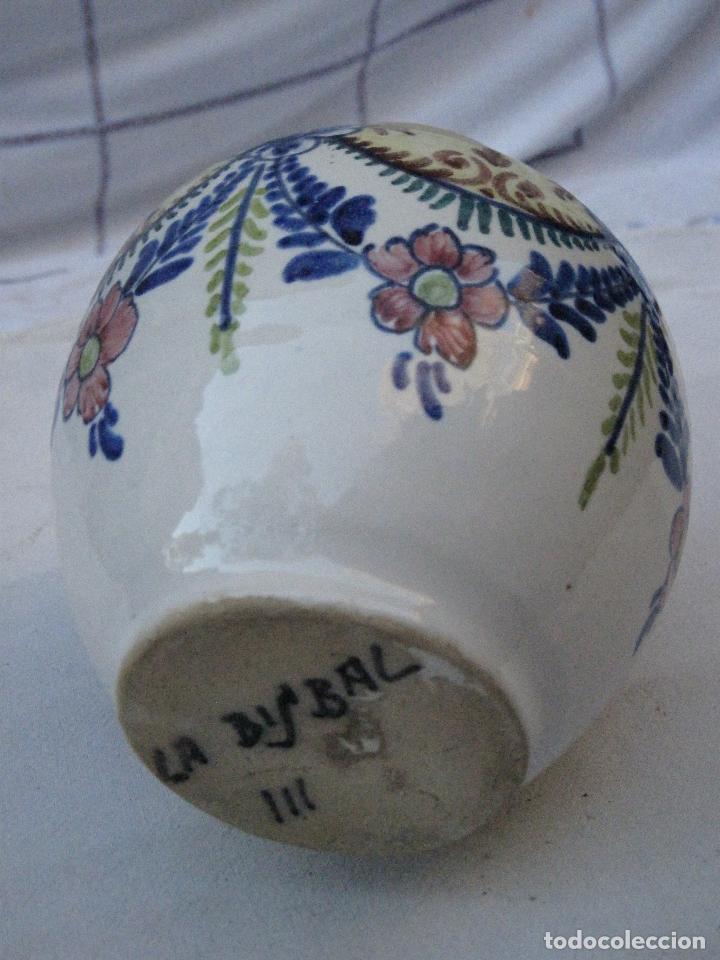 Antigüedades: ORZA ANTIGUA EN CERAMICA VIDRIADA Y PINTADA DE ; LA BISBAL ( GERONA ) - Foto 5 - 72651371