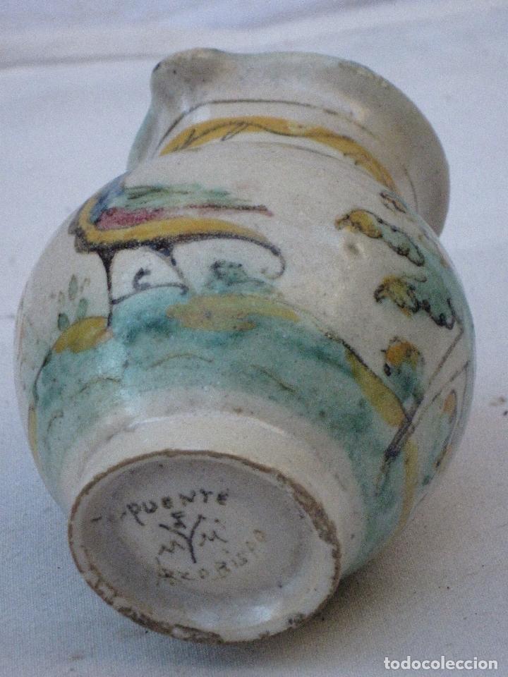 Antigüedades: JARRA ANTIGUA EN CERAMICA DE EL PUENTE DEL ARZOBISPO ( TOLEDO ) - Foto 5 - 72656083