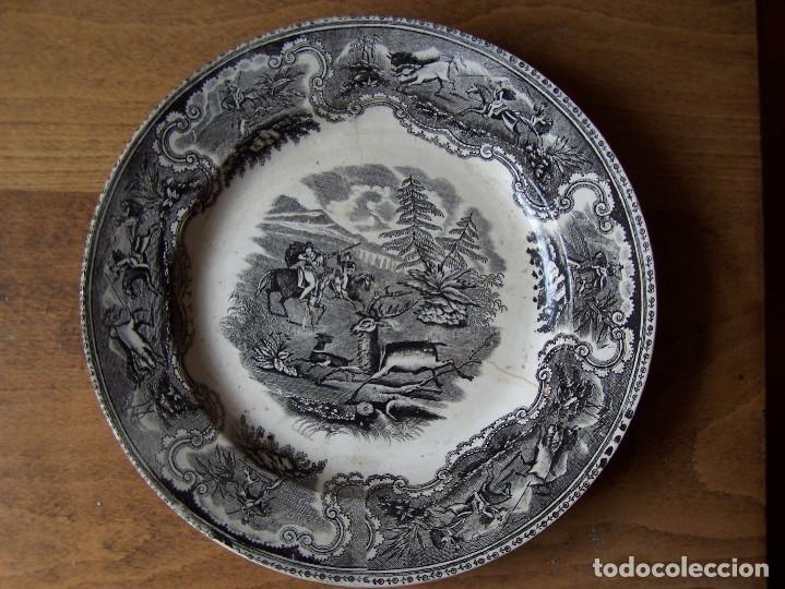 PLATO DE LA AMISTAD. CARTAGENA. FINALES SIGLO XIX. Ø 22 CM. (Antigüedades - Porcelanas y Cerámicas - Cartagena)