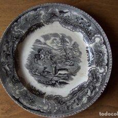 Antigüedades: PLATO DE LA AMISTAD. CARTAGENA. FINALES SIGLO XIX. Ø 22 CM.. Lote 72705543