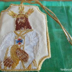 Antigüedades: ESCAPULARIO O SIMILAR BORDADO CRISTO CAUTIVO DE LA SENANA SANTA DE MALAGA. Lote 72711579