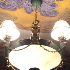 Antigüedades: LAMPARA DE BRONCE. Lote 72722099