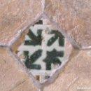 Antigüedades: TROZO DE SUELO TOLEDO S, XV CON AZULEJO DE ARISTA MUDEJAR Y LADRILLOS. Lote 72724147
