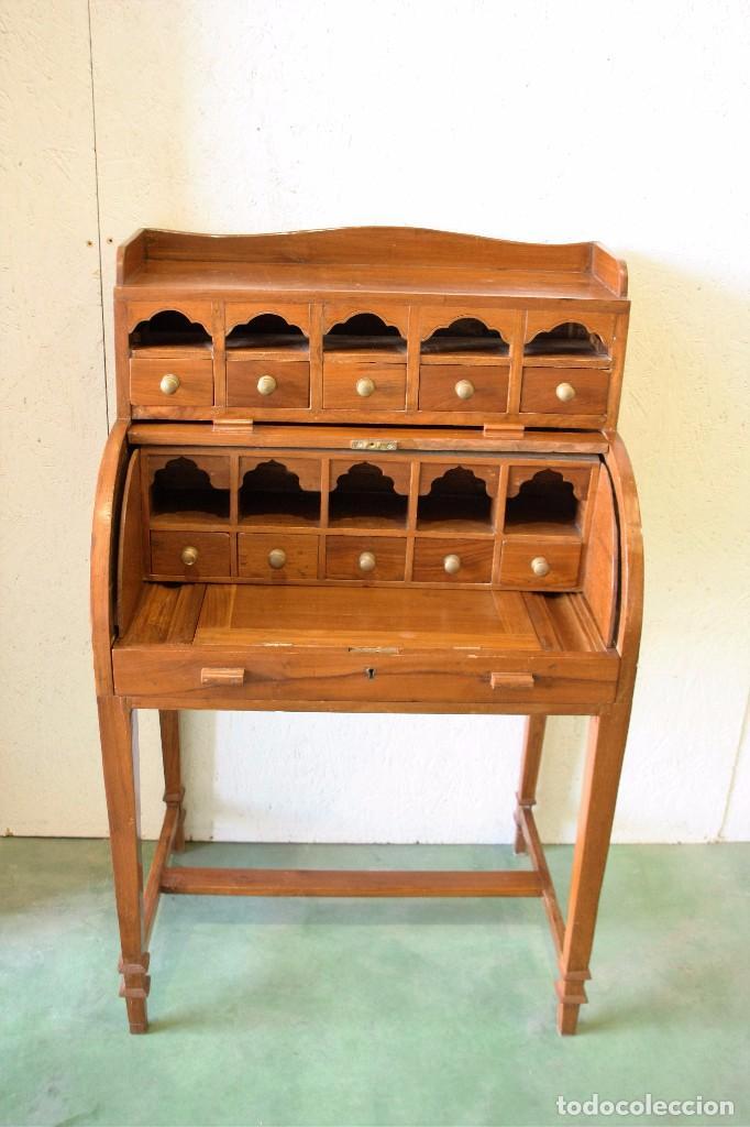 Escritorio secreter de madera antiguo en muy comprar - Escritorios de madera ...