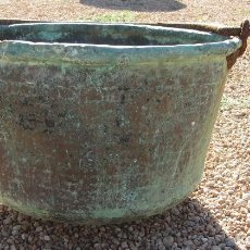 Antigüedades: VASIJA DE COBRE ANTIGUA CON ASA. Lote 72767079