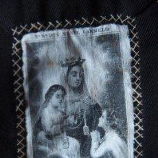 Antigüedades: ESCAPULARIO Nª Sª DEL MONTE CARMELO. A LA MARCHE 50B PARIS. Lote 72775255