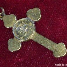 Antigüedades: CRUZ-RELICARIO. BRONCE. ESPAÑA(?) XIX-XX. Lote 92000004