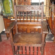 Antigüedades - Sillón de madera frailero buen estado, medida altura 101 cm. ancho 59 cm. fondo 53 cm. - 72788895