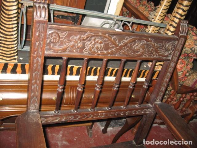 Antigüedades: Sillón de madera frailero buen estado, medida altura 101 cm. ancho 59 cm. fondo 53 cm. - Foto 2 - 72788895