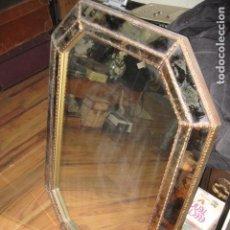 Antiquitäten - Espejo grande de entrada cristales laterales ahumados buen estado medida 82 X 57 - 72789567