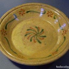 Antigüedades: PLATO DE TERRISSA CATALANA XIX . Lote 72825279