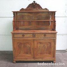 Antigüedades: BUFFET ANTIGUO DE MADERA CON PUERTAS Y ESTANTE PARA PLATOS. FRANCIA 1850 - 1880. Lote 72825547