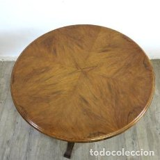 Antigüedades: MESA REDONDA ANTIGUA DE MADERA. 1880 - 1900. Lote 72825863