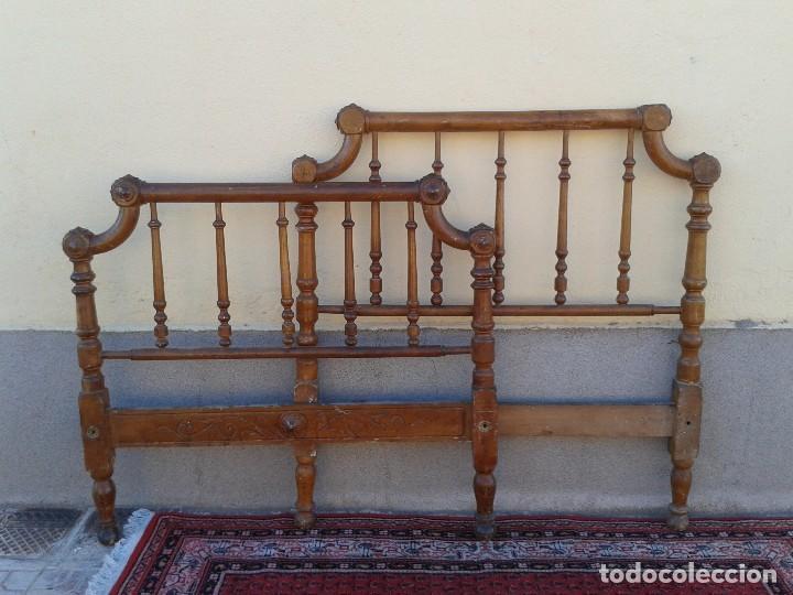 Cama antigua modernista cabecero antiguo comprar - Cabeceros de cama antiguos ...
