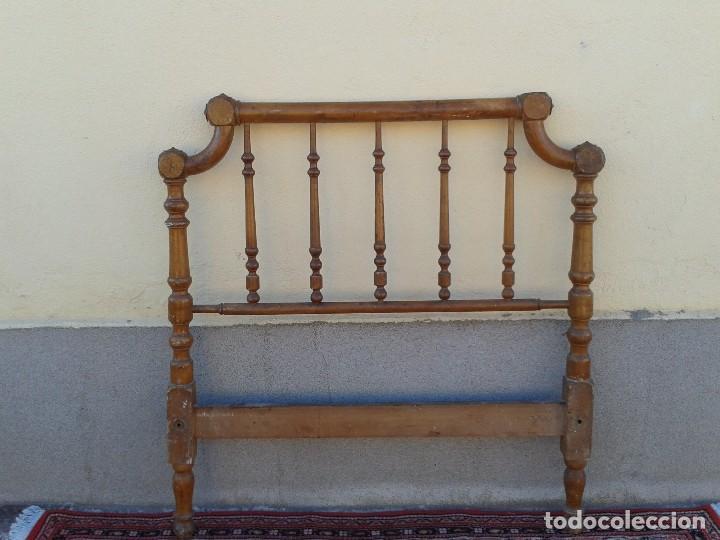 Antigüedades: Cama antigua modernista s.XIX cabecero antiguo de madera tipo colonial cama rústica cabecero rústico - Foto 2 - 72828055