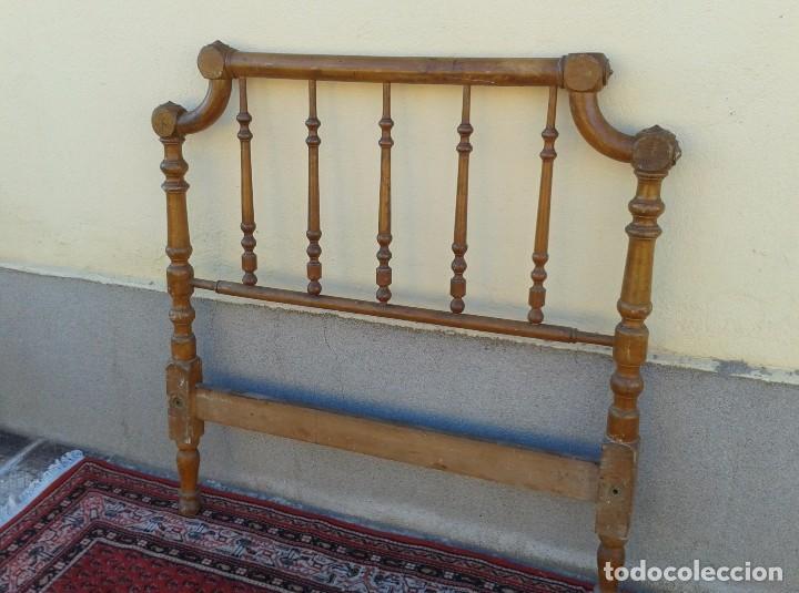 Antigüedades: Cama antigua modernista s.XIX cabecero antiguo de madera tipo colonial cama rústica cabecero rústico - Foto 5 - 72828055
