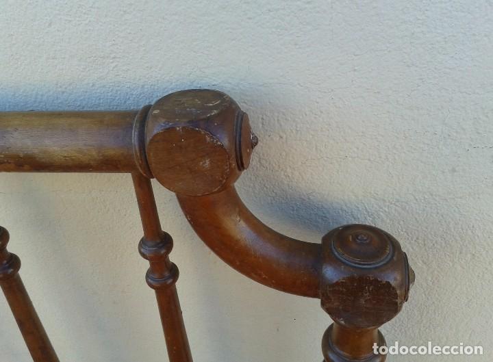 Antigüedades: Cama antigua modernista s.XIX cabecero antiguo de madera tipo colonial cama rústica cabecero rústico - Foto 6 - 72828055