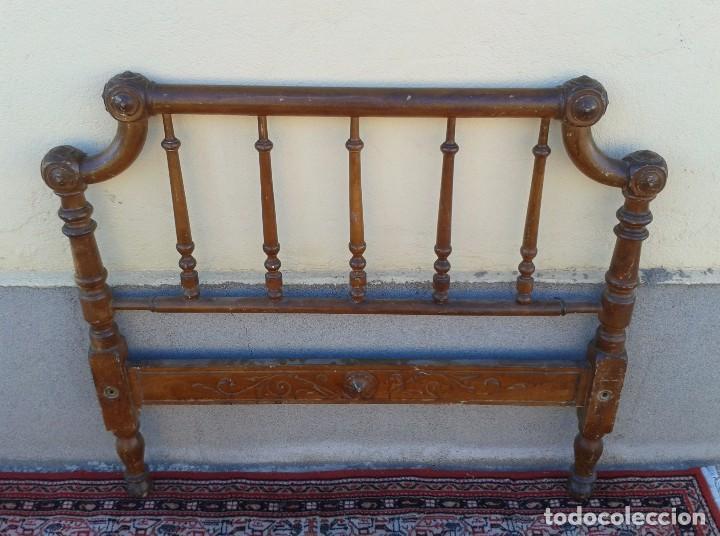 Antigüedades: Cama antigua modernista s.XIX cabecero antiguo de madera tipo colonial cama rústica cabecero rústico - Foto 8 - 72828055