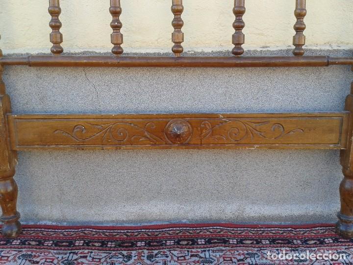 Antigüedades: Cama antigua modernista s.XIX cabecero antiguo de madera tipo colonial cama rústica cabecero rústico - Foto 10 - 72828055