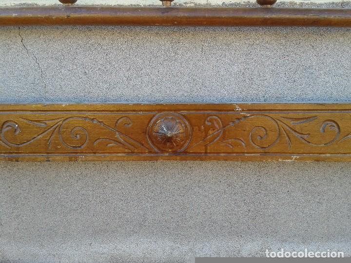 Antigüedades: Cama antigua modernista s.XIX cabecero antiguo de madera tipo colonial cama rústica cabecero rústico - Foto 11 - 72828055