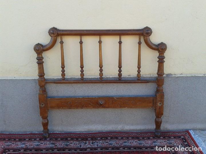Antigüedades: Cama antigua modernista s.XIX cabecero antiguo de madera tipo colonial cama rústica cabecero rústico - Foto 12 - 72828055