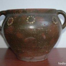 Antigüedades: C095.- CAZUELA, ORZA EN CERAMICA POPULAR Y DE PRINCIPIOS DEL S. XX. Lote 72843547
