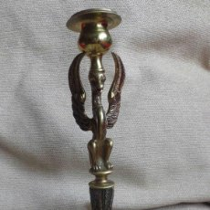 Antigüedades: CANDELABRO BRONCE AVE FENIX. Lote 72845003