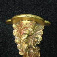 Antigüedades: MENSULA MADERA TALLADA Y DORADA. Lote 72886471