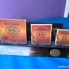 Coleccionismo: EXPOSITOR DE TABACO DE ESTANCO - TABACOS PRIMEROS LA PAZ - WILDE CIGARRILLOS. Lote 72898411
