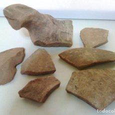 Antigüedades: LOTE DE 7 FRAGMENTOS DE CERAMICA ROMANA. Lote 72912823