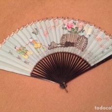 Antigüedades: ABANICO ANTIGUO DE GRANDES DIMENSIONES. JAPÓN- CHINA, SIGLO XIX. Lote 72915463
