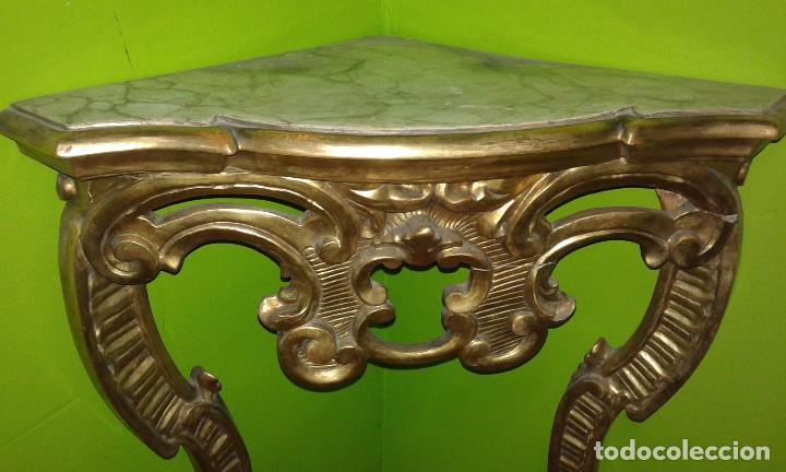 Antigüedades: RINCONERA BARROCA PAN DE ORO SIGLO XIX - Foto 2 - 72946827