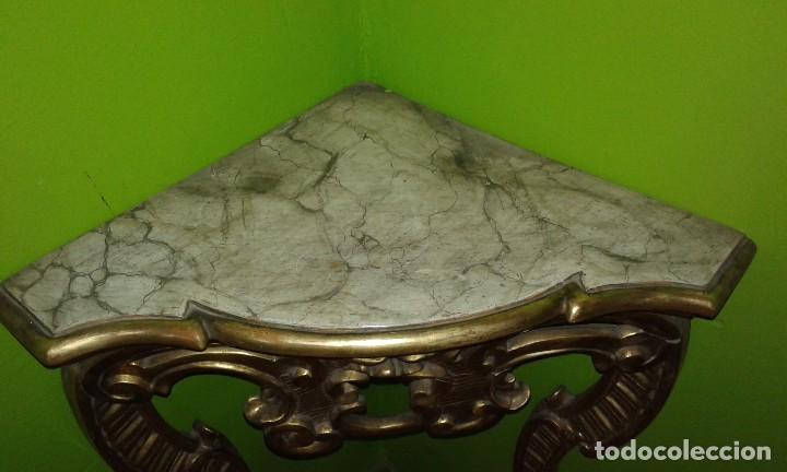 Antigüedades: RINCONERA BARROCA PAN DE ORO SIGLO XIX - Foto 5 - 72946827
