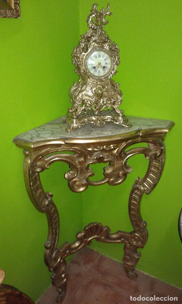 Antigüedades: RINCONERA BARROCA PAN DE ORO SIGLO XIX - Foto 6 - 72946827