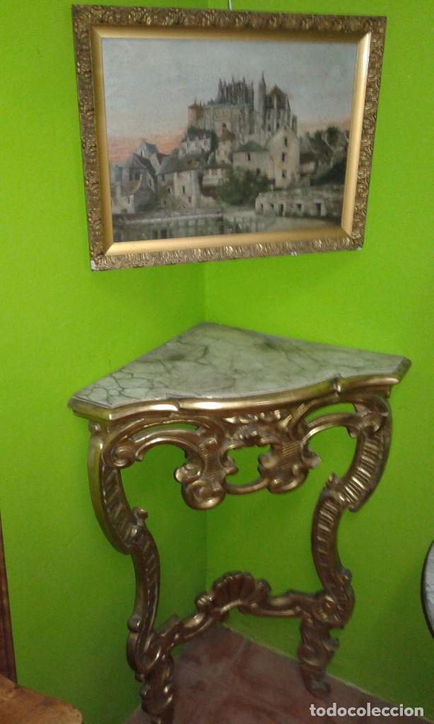Antigüedades: RINCONERA BARROCA PAN DE ORO SIGLO XIX - Foto 7 - 72946827