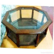 Antigüedades: MESA CENTRO EXAGONAL MEDIDAS 90 X 90. Lote 72955859