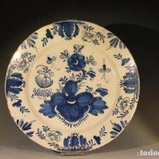 Antigüedades: GRAN PLATO CHINO EMPERADOR KANGXI SIGLO XVIII. Lote 72992551
