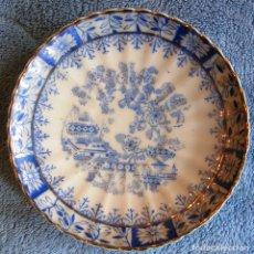 Oggetti Antichi: PLATO PORCELANA SANTA CLARA, CHINA BLAU. DE 11,50 CMS. DIAMETRO.. Lote 73002551