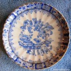 Antigüedades: PLATO PORCELANA SANTA CLARA, CHINA BLAU. DE 11,50 CMS. DIAMETRO.. Lote 73002787