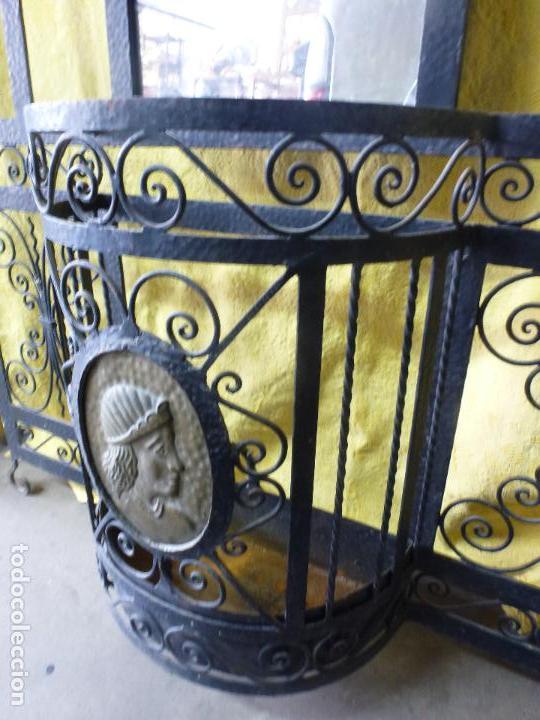 Antigüedades: Antiguo paragüero, perchero. en Hierro forjado. Mueble recibidor - Foto 3 - 145961362