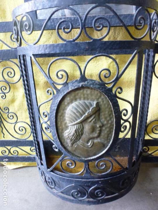 Antigüedades: Antiguo paragüero, perchero. en Hierro forjado. Mueble recibidor - Foto 4 - 145961362