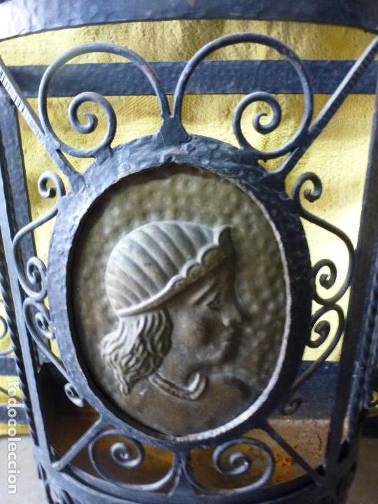 Antigüedades: Antiguo paragüero, perchero. en Hierro forjado. Mueble recibidor - Foto 6 - 145961362