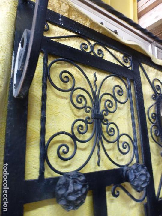 Antigüedades: Antiguo paragüero, perchero. en Hierro forjado. Mueble recibidor - Foto 9 - 145961362
