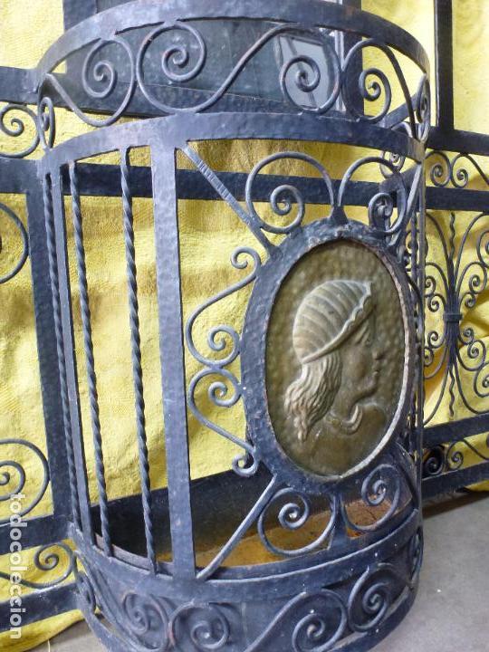 Antigüedades: Antiguo paragüero, perchero. en Hierro forjado. Mueble recibidor - Foto 13 - 145961362