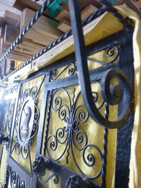 Antigüedades: Antiguo paragüero, perchero. en Hierro forjado. Mueble recibidor - Foto 16 - 145961362