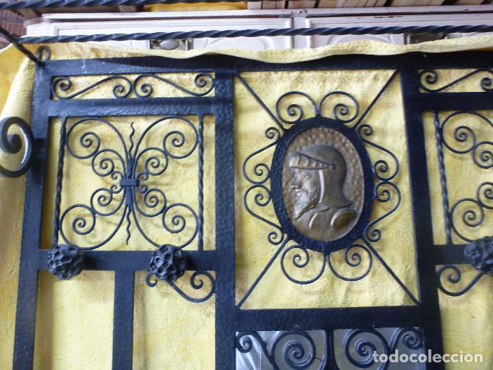 Antigüedades: Antiguo paragüero, perchero. en Hierro forjado. Mueble recibidor - Foto 18 - 145961362