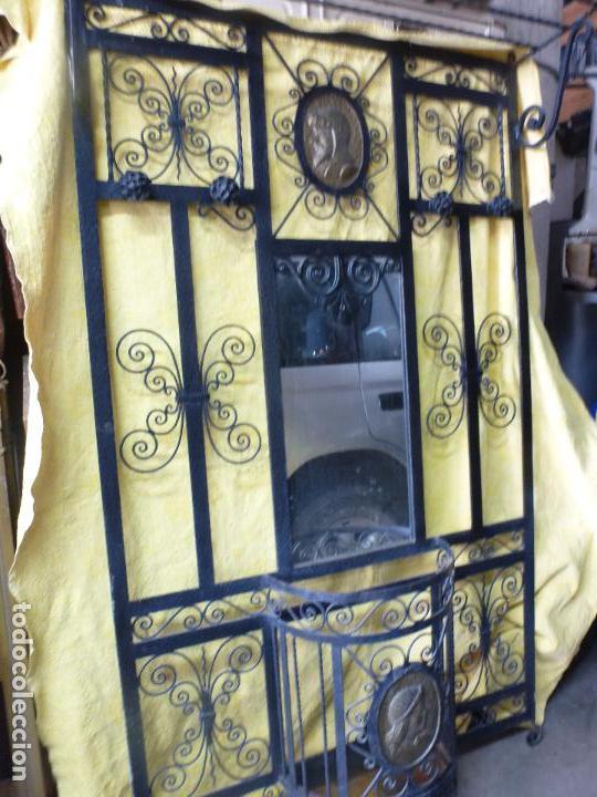 Antigüedades: Antiguo paragüero, perchero. en Hierro forjado. Mueble recibidor - Foto 20 - 145961362